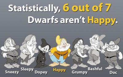 6 out of seven dwarfs aren't happy